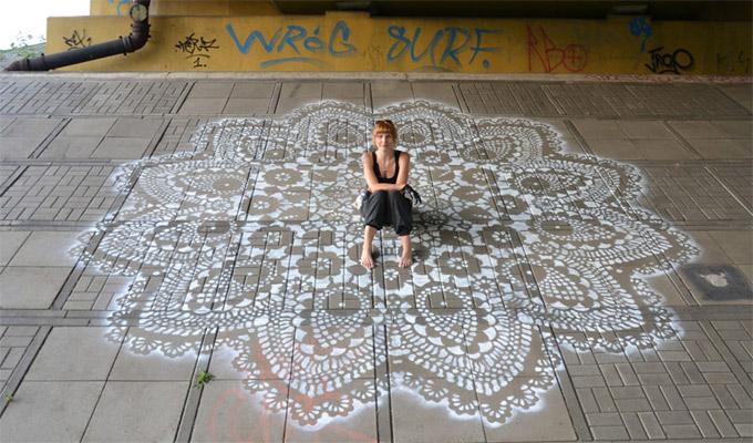 Csipke a street art szolg�lat�ban