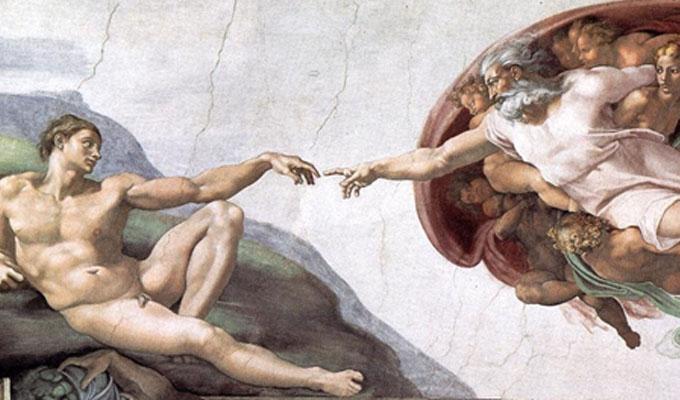 Michelangelo k�d - A Sixtus-k�polna spiritu�lis �zenete