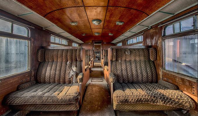 Az elhagyatott Orient Express, amely megid�zi a r�gi id�k luxus�t - K�peken a szellemvonat