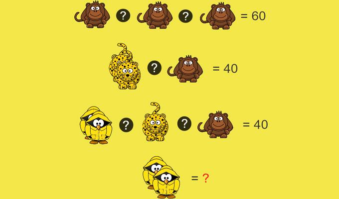 Géniuszpalántáknak való állatos matematikai feladvány
