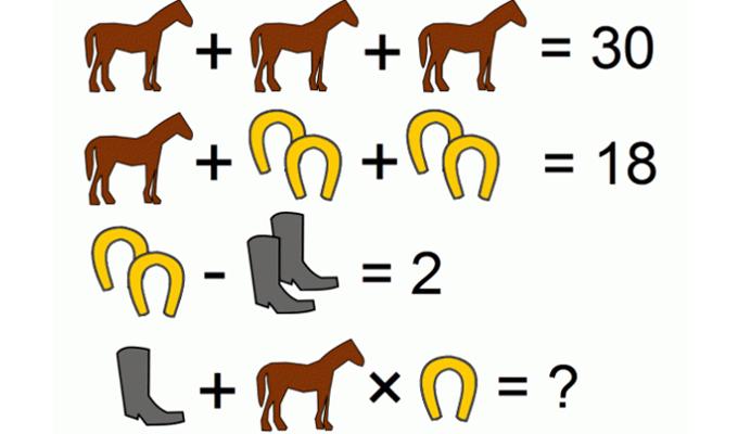 Szórakoztató matematikai feladvány a lovak szerelmeseinek