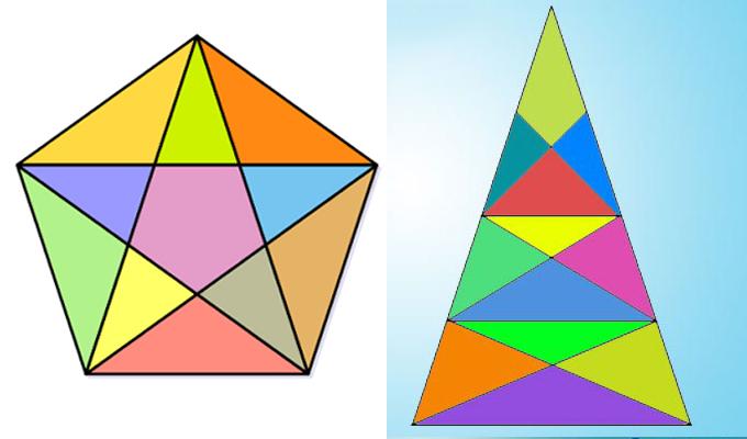 Nem lesz könnyű dolgod! - Mennyi háromszöget látsz a két képen?