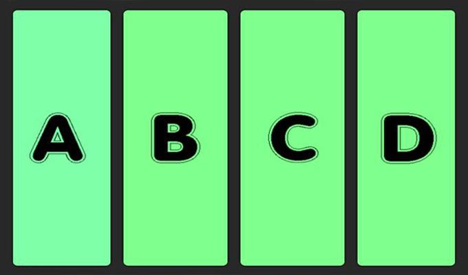 Melyik szín tér el a többitől? - Színes vizuális teszt